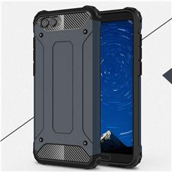 King Kong Armor Premium Shockproof Dual Layer Rugged Hard Cover for Huawei Honor View 10 (V10) - Navy