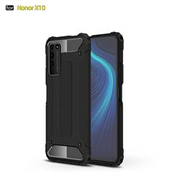 King Kong Armor Premium Shockproof Dual Layer Rugged Hard Cover for Huawei Honor X10 5G - Black Gold
