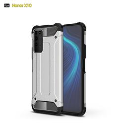King Kong Armor Premium Shockproof Dual Layer Rugged Hard Cover for Huawei Honor X10 5G - White