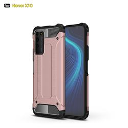 King Kong Armor Premium Shockproof Dual Layer Rugged Hard Cover for Huawei Honor X10 5G - Rose Gold