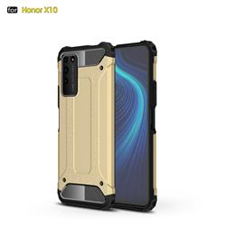 King Kong Armor Premium Shockproof Dual Layer Rugged Hard Cover for Huawei Honor X10 5G - Champagne Gold
