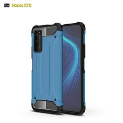 King Kong Armor Premium Shockproof Dual Layer Rugged Hard Cover for Huawei Honor X10 5G - Sky Blue