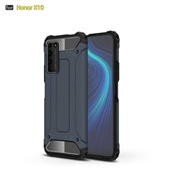 King Kong Armor Premium Shockproof Dual Layer Rugged Hard Cover for Huawei Honor X10 5G - Navy