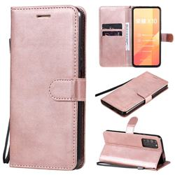 Retro Greek Classic Smooth PU Leather Wallet Phone Case for Huawei Honor X10 5G - Rose Gold