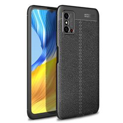 Luxury Auto Focus Litchi Texture Silicone TPU Back Cover for Huawei Honor X10 Max 5G - Black