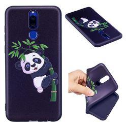 Bamboo Panda 3D Embossed Relief Black Soft Back Cover for Huawei Mate 10 Lite / Nova 2i / Horor 9i / G10