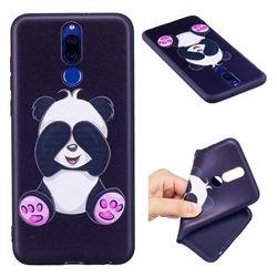 Lovely Panda 3D Embossed Relief Black Soft Back Cover for Huawei Mate 10 Lite / Nova 2i / Horor 9i / G10