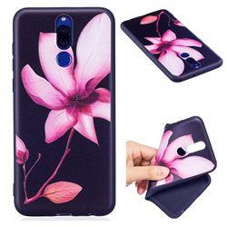 Lotus Flower 3D Embossed Relief Black Soft Back Cover for Huawei Mate 10 Lite / Nova 2i / Horor 9i / G10