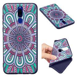 Mandala 3D Embossed Relief Black Soft Back Cover for Huawei Mate 10 Lite / Nova 2i / Horor 9i / G10