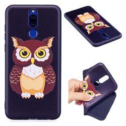 Big Owl 3D Embossed Relief Black Soft Back Cover for Huawei Mate 10 Lite / Nova 2i / Horor 9i / G10
