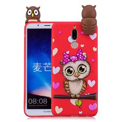 Bow Owl Soft 3D Climbing Doll Soft Case for Huawei Mate 10 Lite / Nova 2i / Horor 9i / G10
