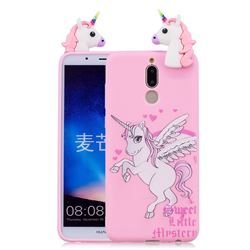 Wings Unicorn Soft 3D Climbing Doll Soft Case for Huawei Mate 10 Lite / Nova 2i / Horor 9i / G10