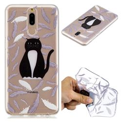 Feather Black Cat Super Clear Soft TPU Back Cover for Huawei Mate 10 Lite / Nova 2i / Horor 9i / G10