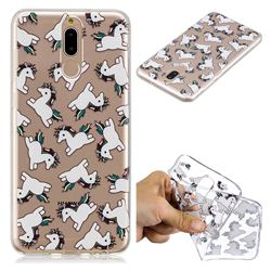 Pony Unicorn Super Clear Soft TPU Back Cover for Huawei Mate 10 Lite / Nova 2i / Horor 9i / G10
