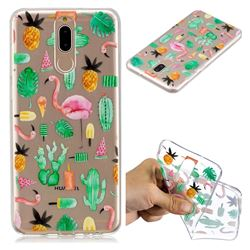 Cactus Flamingos Super Clear Soft TPU Back Cover for Huawei Mate 10 Lite / Nova 2i / Horor 9i / G10