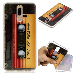 Retro Cassette Tape Super Clear Soft TPU Back Cover for Huawei Mate 10 Lite / Nova 2i / Horor 9i / G10