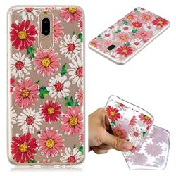 Chrysant Flower Super Clear Soft TPU Back Cover for Huawei Mate 10 Lite / Nova 2i / Horor 9i / G10