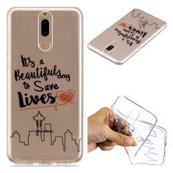 Line Castle Super Clear Soft TPU Back Cover for Huawei Mate 10 Lite / Nova 2i / Horor 9i / G10