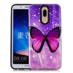 Glossy Butterfly Pattern 2 in 1 PC + TPU Glossy Embossed Back Cover for Huawei Mate 10 Lite / Nova 2i / Horor 9i / G10