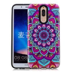 Datura Flowers Pattern 2 in 1 PC + TPU Glossy Embossed Back Cover for Huawei Mate 10 Lite / Nova 2i / Horor 9i / G10