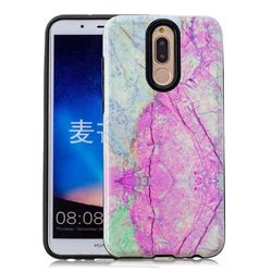 Pink Marble Pattern 2 in 1 PC + TPU Glossy Embossed Back Cover for Huawei Mate 10 Lite / Nova 2i / Horor 9i / G10