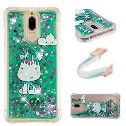 Tiny Unicorn Dynamic Liquid Glitter Sand Quicksand Star TPU Case for Huawei Mate 10 Lite / Nova 2i / Horor 9i / G10