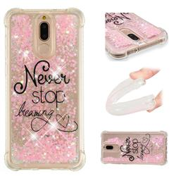 Never Stop Dreaming Dynamic Liquid Glitter Sand Quicksand Star TPU Case for Huawei Mate 10 Lite / Nova 2i / Horor 9i / G10