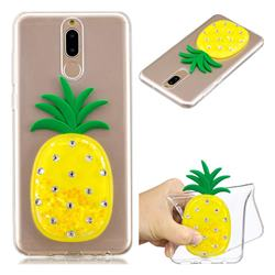 Yellow Pineapple Liquid Quicksand Soft 3D Cartoon Case for Huawei Mate 10 Lite / Nova 2i / Horor 9i / G10