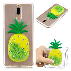 Green Pineapple Liquid Quicksand Soft 3D Cartoon Case for Huawei Mate 10 Lite / Nova 2i / Horor 9i / G10
