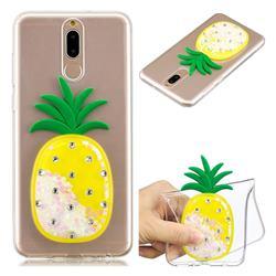 White Pineapple Liquid Quicksand Soft 3D Cartoon Case for Huawei Mate 10 Lite / Nova 2i / Horor 9i / G10
