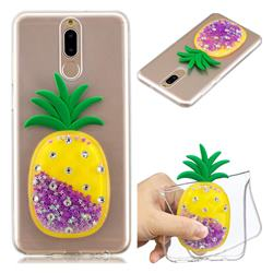 Purple Pineapple Liquid Quicksand Soft 3D Cartoon Case for Huawei Mate 10 Lite / Nova 2i / Horor 9i / G10