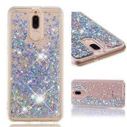 Dynamic Liquid Glitter Quicksand Sequins TPU Phone Case for Huawei Mate 10 Lite / Nova 2i / Horor 9i / G10 - Silver