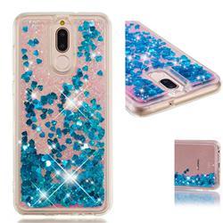 Dynamic Liquid Glitter Quicksand Sequins TPU Phone Case for Huawei Mate 10 Lite / Nova 2i / Horor 9i / G10 - Blue