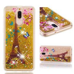 Golden Tower Dynamic Liquid Glitter Quicksand Soft TPU Case for Huawei Mate 10 Lite / Nova 2i / Horor 9i / G10