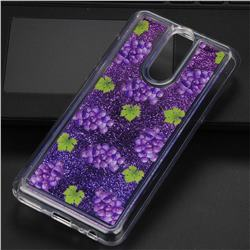 Purple Grape Glassy Glitter Quicksand Dynamic Liquid Soft Phone Case for Huawei Mate 10 Lite / Nova 2i / Horor 9i / G10