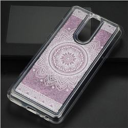Mandala Glassy Glitter Quicksand Dynamic Liquid Soft Phone Case for Huawei Mate 10 Lite / Nova 2i / Horor 9i / G10
