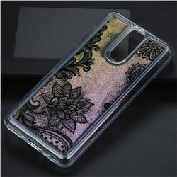 Diagonal Lace Glassy Glitter Quicksand Dynamic Liquid Soft Phone Case for Huawei Mate 10 Lite / Nova 2i / Horor 9i / G10