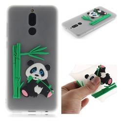 Panda Eating Bamboo Soft 3D Silicone Case for Huawei Mate 10 Lite / Nova 2i / Horor 9i / G10 - Translucent