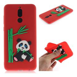 Panda Eating Bamboo Soft 3D Silicone Case for Huawei Mate 10 Lite / Nova 2i / Horor 9i / G10 - Red