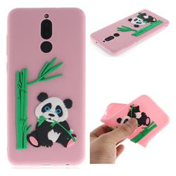 Panda Eating Bamboo Soft 3D Silicone Case for Huawei Mate 10 Lite / Nova 2i / Horor 9i / G10 - Pink
