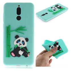 Panda Eating Bamboo Soft 3D Silicone Case for Huawei Mate 10 Lite / Nova 2i / Horor 9i / G10 - Green