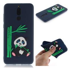 Panda Eating Bamboo Soft 3D Silicone Case for Huawei Mate 10 Lite / Nova 2i / Horor 9i / G10 - Dark Blue