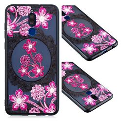 Daffodil Lace Diamond Flower Soft TPU Back Cover for Huawei Mate 10 Lite / Nova 2i / Horor 9i / G10