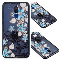 Lilac Lace Diamond Flower Soft TPU Back Cover for Huawei Mate 10 Lite / Nova 2i / Horor 9i / G10