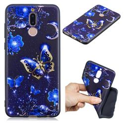 Phnom Penh Butterfly 3D Embossed Relief Black TPU Cell Phone Back Cover for Huawei Mate 10 Lite / Nova 2i / Horor 9i / G10