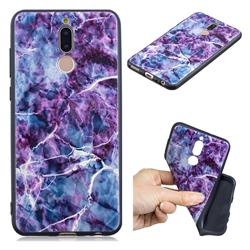 Marble 3D Embossed Relief Black TPU Cell Phone Back Cover for Huawei Mate 10 Lite / Nova 2i / Horor 9i / G10