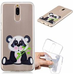 Bamboo Panda Clear Varnish Soft Phone Back Cover for Huawei Mate 10 Lite / Nova 2i / Horor 9i / G10