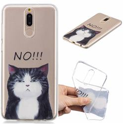 Cat Say No Clear Varnish Soft Phone Back Cover for Huawei Mate 10 Lite / Nova 2i / Horor 9i / G10