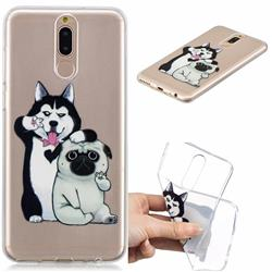 Selfie Dog Clear Varnish Soft Phone Back Cover for Huawei Mate 10 Lite / Nova 2i / Horor 9i / G10