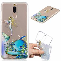Mermaid Clear Varnish Soft Phone Back Cover for Huawei Mate 10 Lite / Nova 2i / Horor 9i / G10